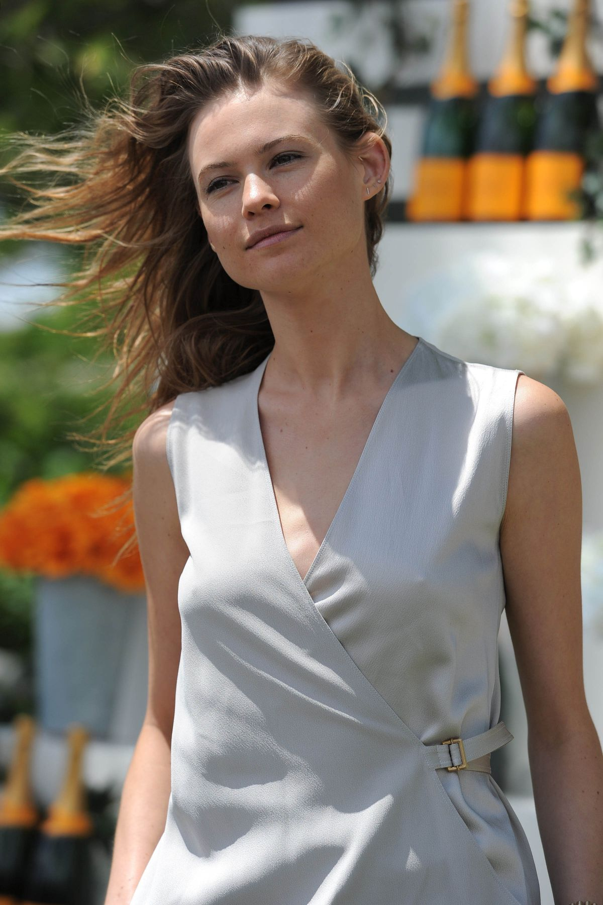 behati prinsloo at veuve clicquot polo classic in jersey