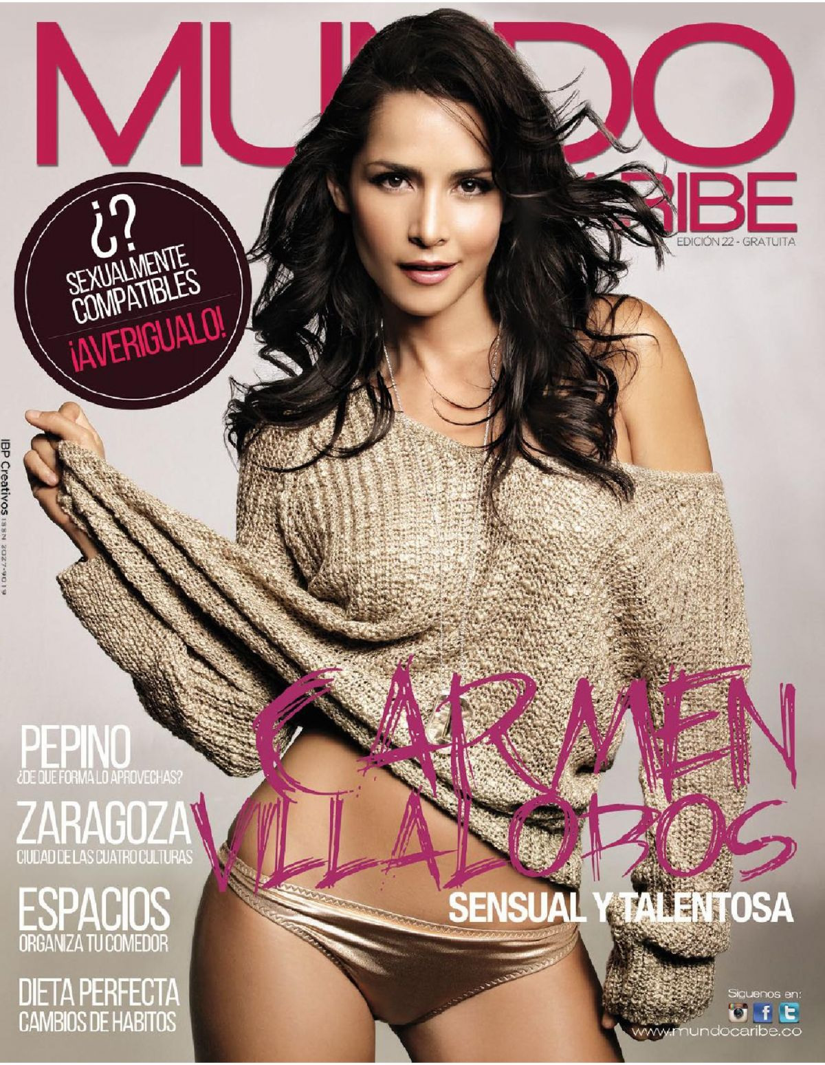 CARMEN VILLALOBOS in Mundo Caribe #22 Issue