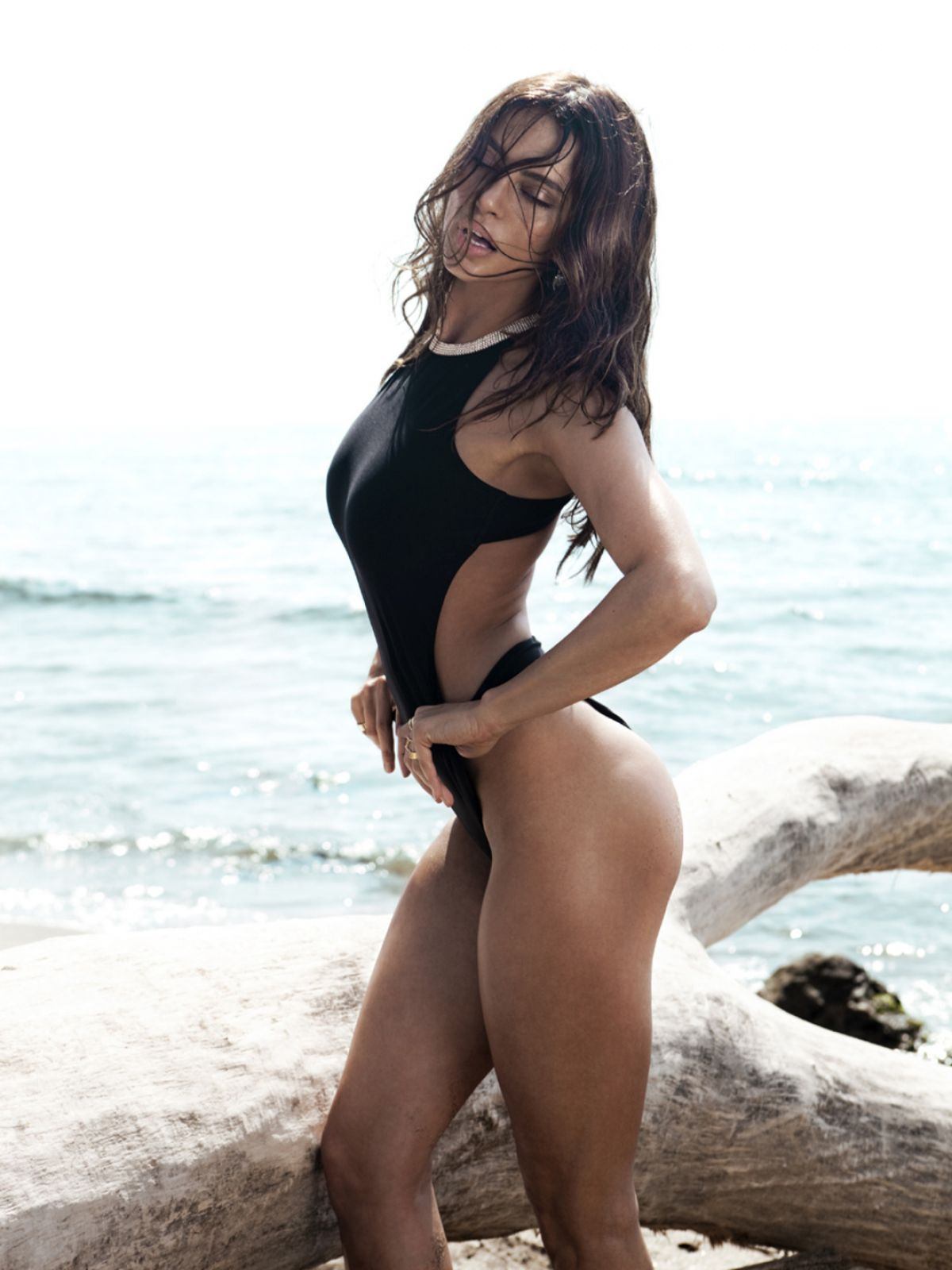 CATRINEL MENGHIA in Swimsuit for the One Magazine, June 2014 Issue