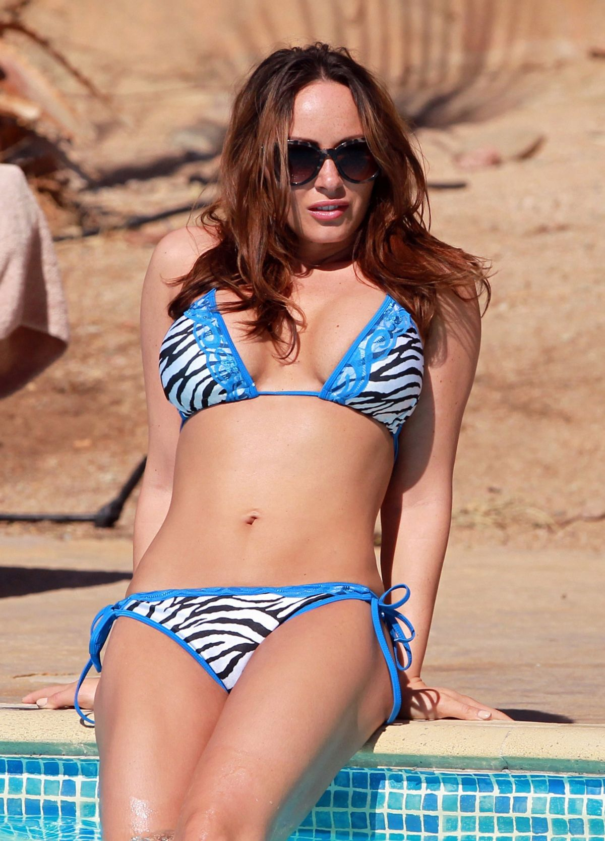 CHANELLE HAYES in Bikini at a Pool in Egypt