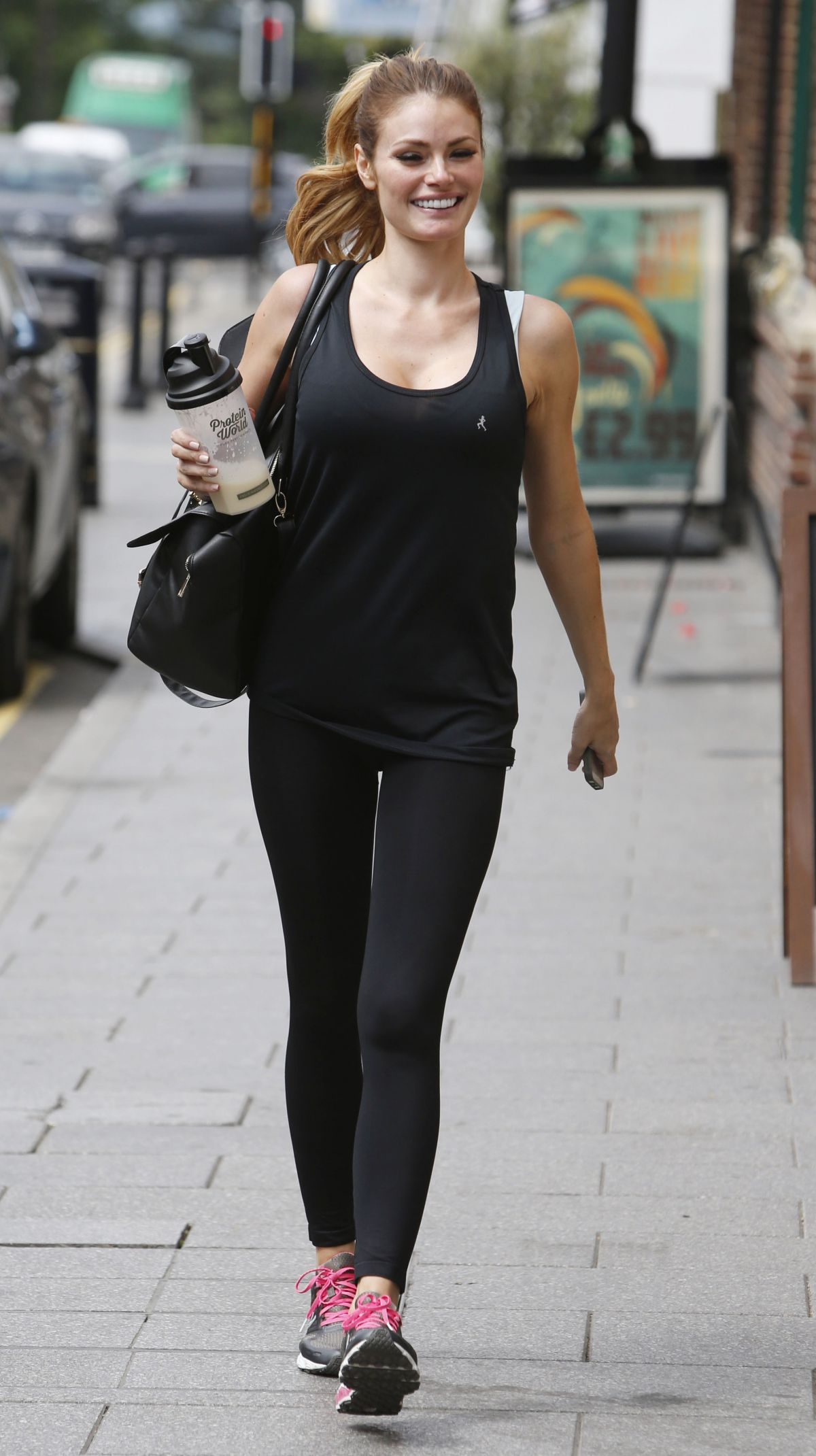 CHLOE SIMS Leaves a Gym in Essex