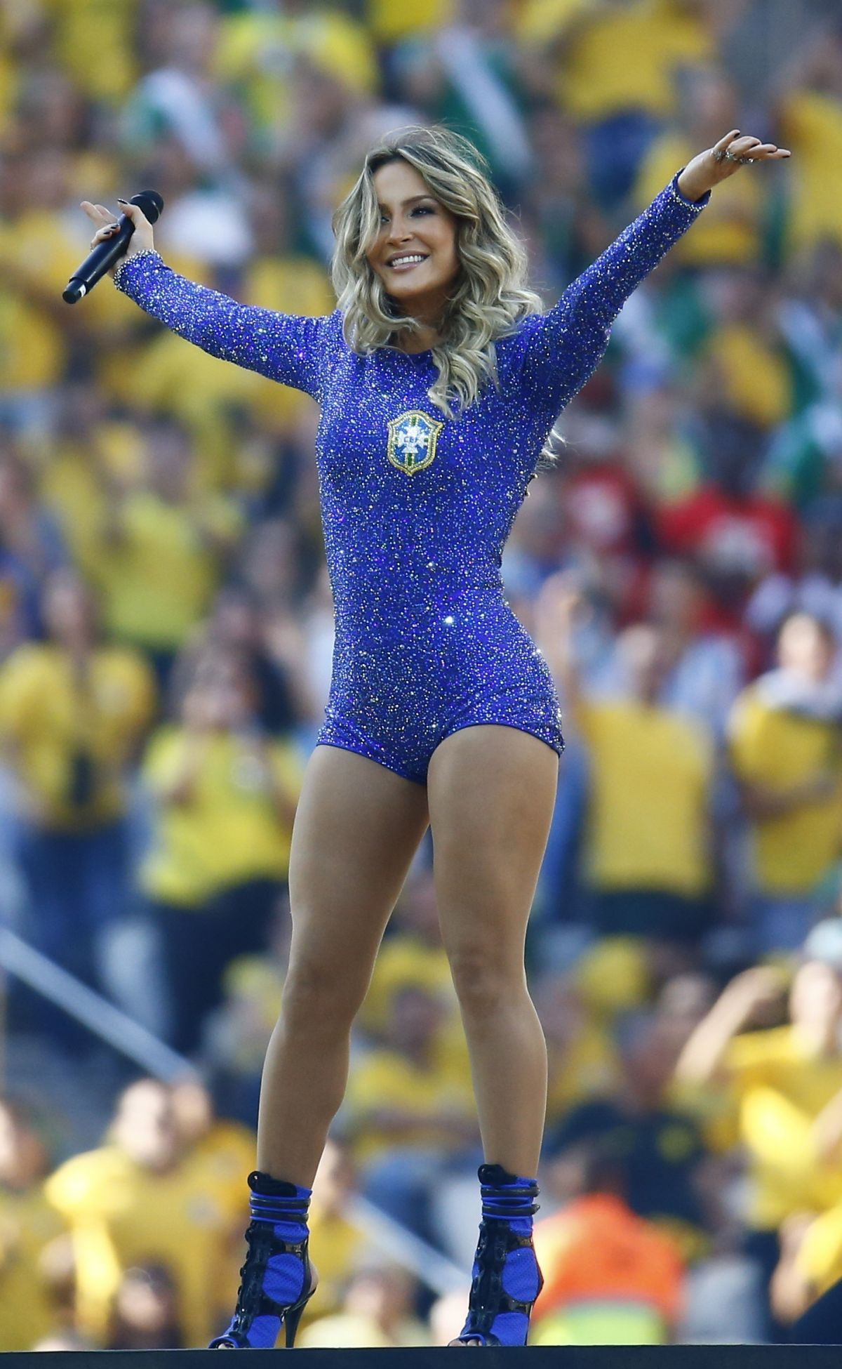 CLAUDIA LEITTE Performs at Fifa World Cup 2014 Opening Ceremony