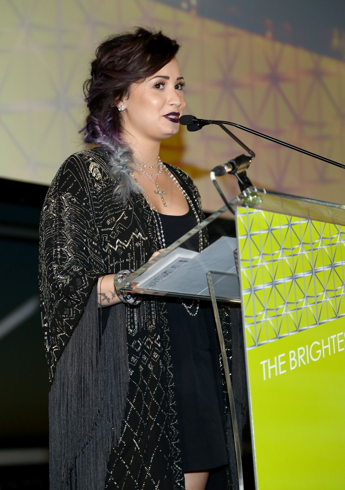 DEMI LOVATO at 2014 Jed Foundation Gala in New York