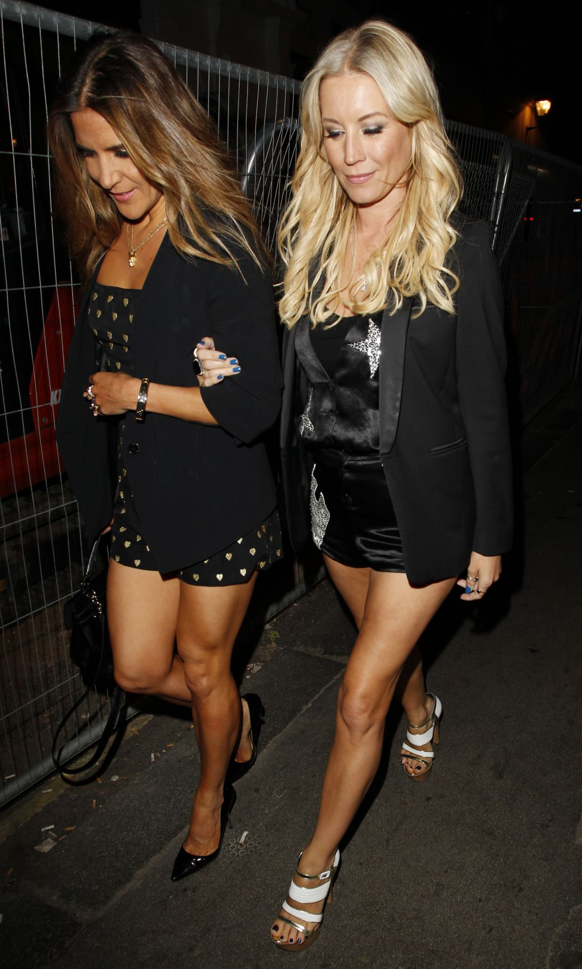 DENISE VAN OUTEN and AMANDA BYRAM at Gilgamesh Nightclub