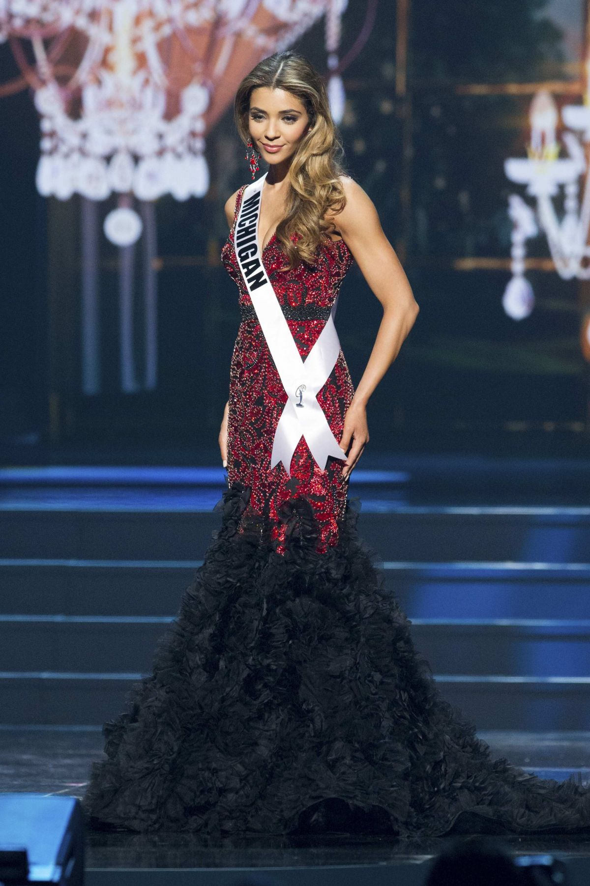 ELIZABETH IVEZAJ at Miss USA 2014 Preliminary Competition