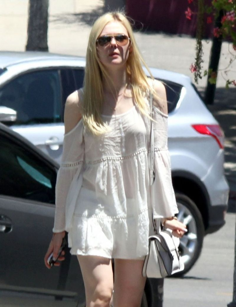 ELLE FANNING Out and About in Los Feliz