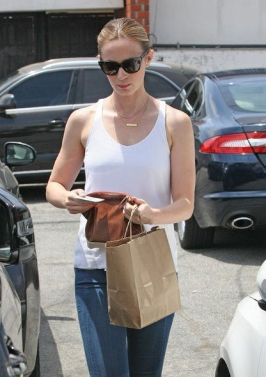 EMILY BLUNT Leaves a Beauty Salon in Los Angeles