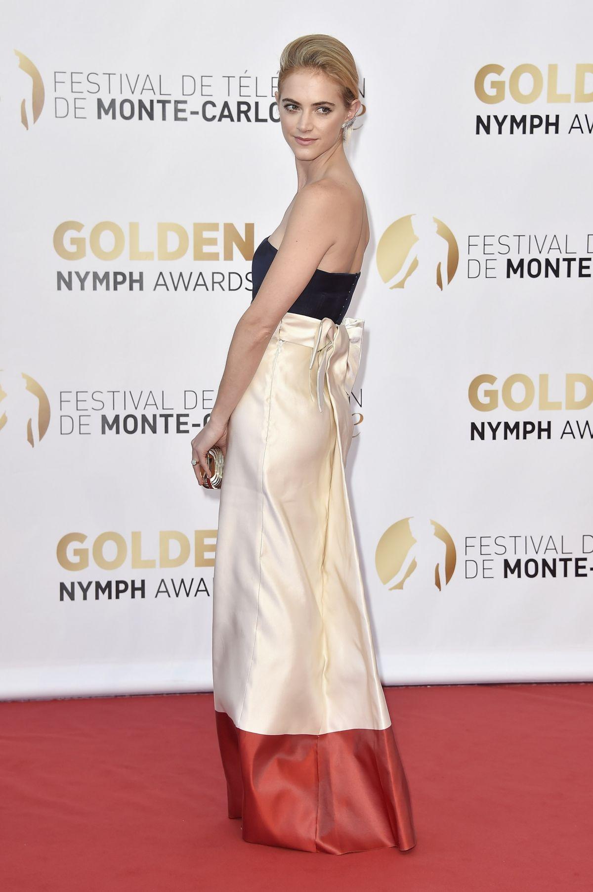 EMILY WICKERSHAM at 2014 Monte Carlo TV Festival Closing Ceremony