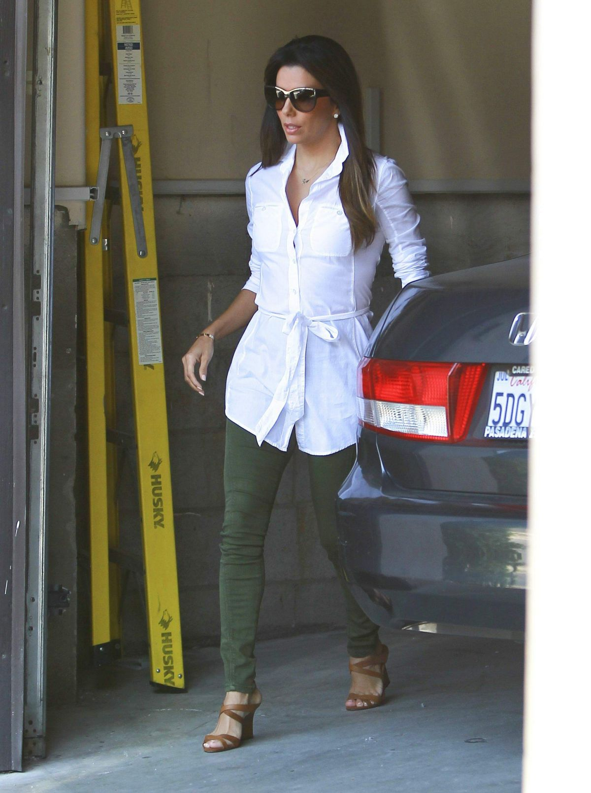 EVA LONGORIA Out and About in Los Angeles 1906