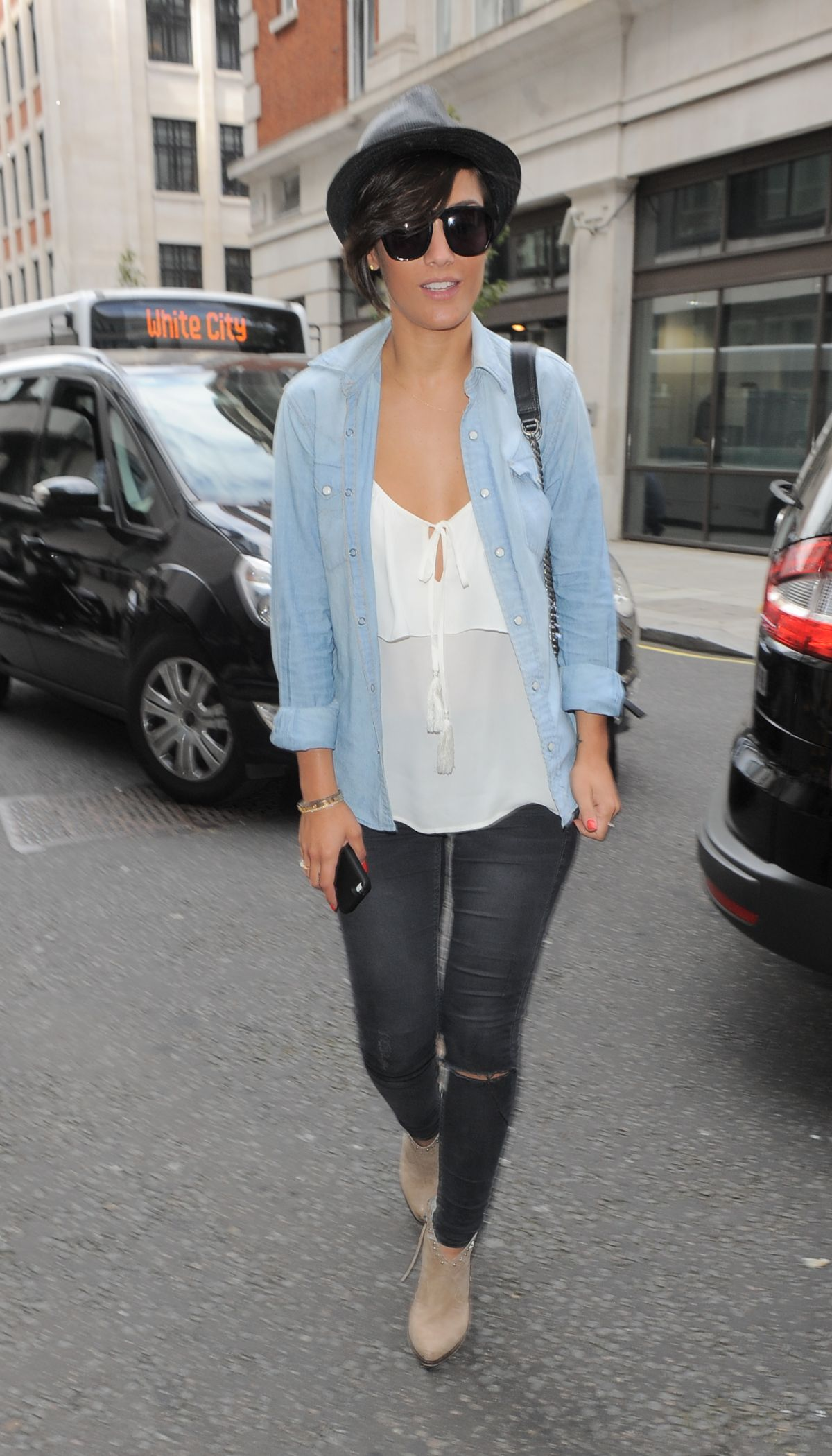 FRANKIE SANDFORD Leaves BBC Radio 1 Studios in London