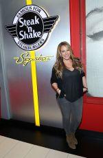 HAYLIE DUFF at Steak'n Shake's 80th Britfhay Party in New York