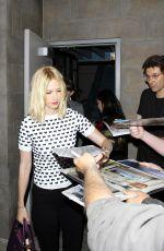 JANUARY JONES Leaves Landmark Theaters in Los Angeles