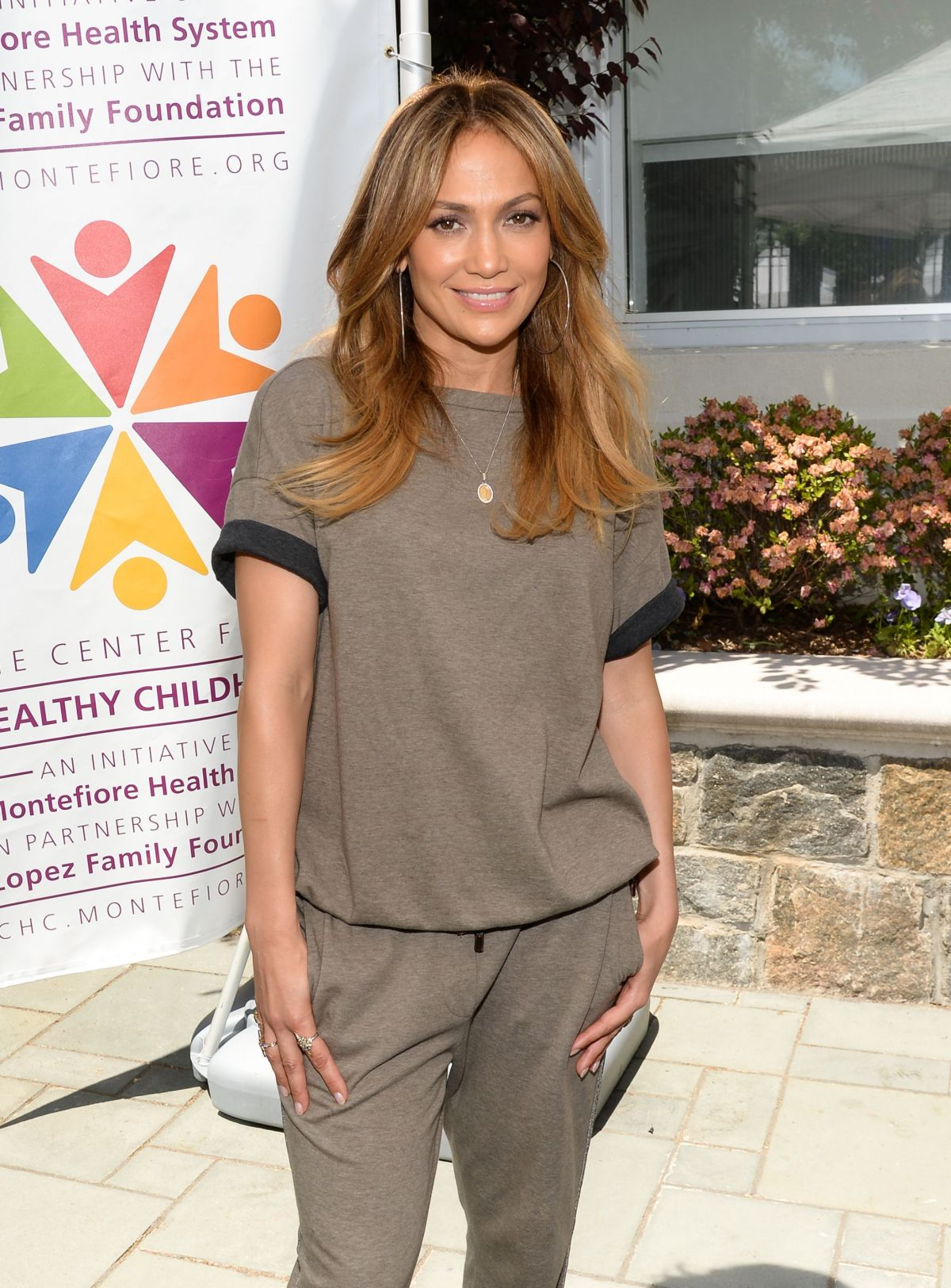 JENNIFER LOPEZ at Healthy Childhood Launch at Montefiore Medical Center in New York