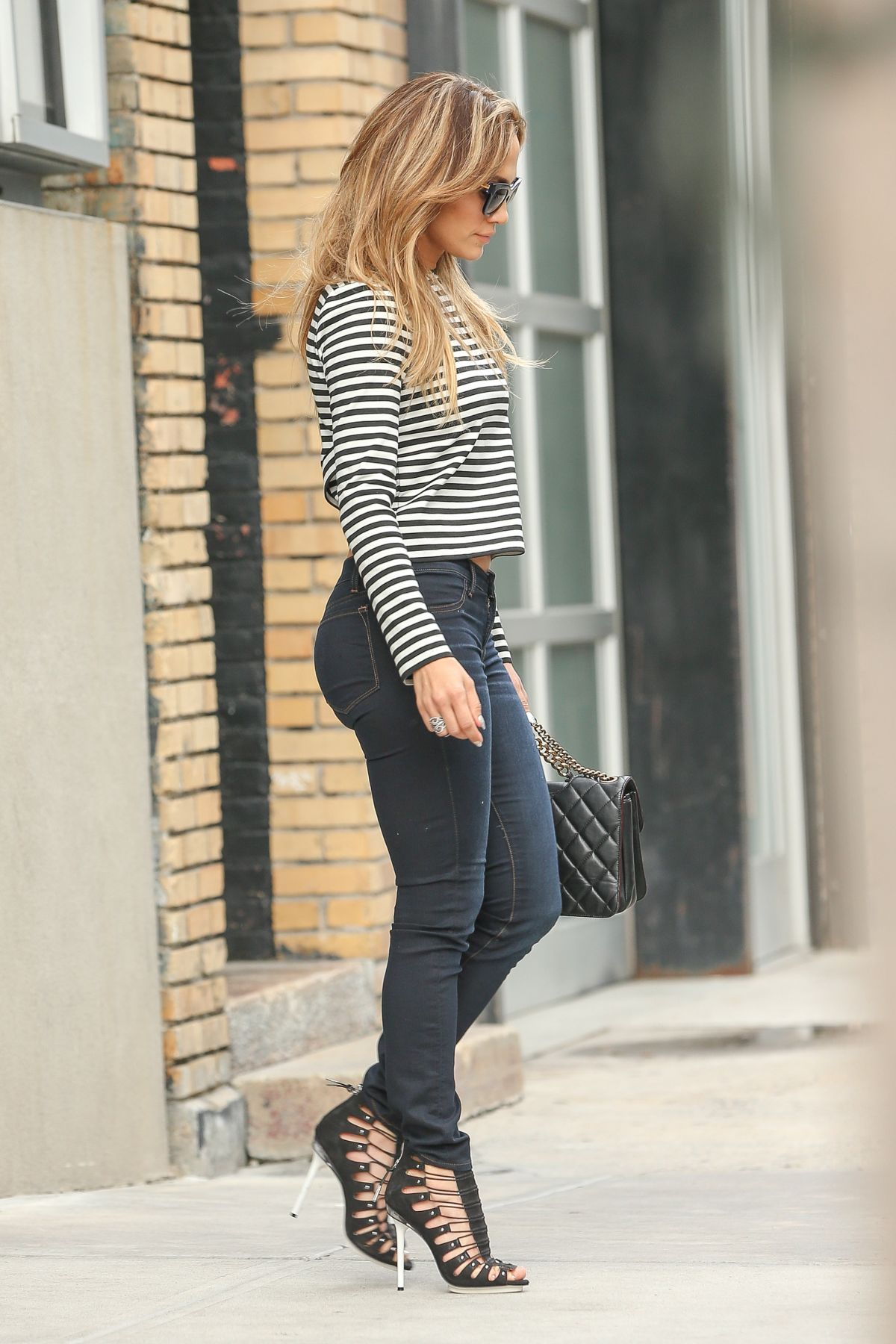 JENNIFER LOPEZ in Tight Jeans Out and About in New York