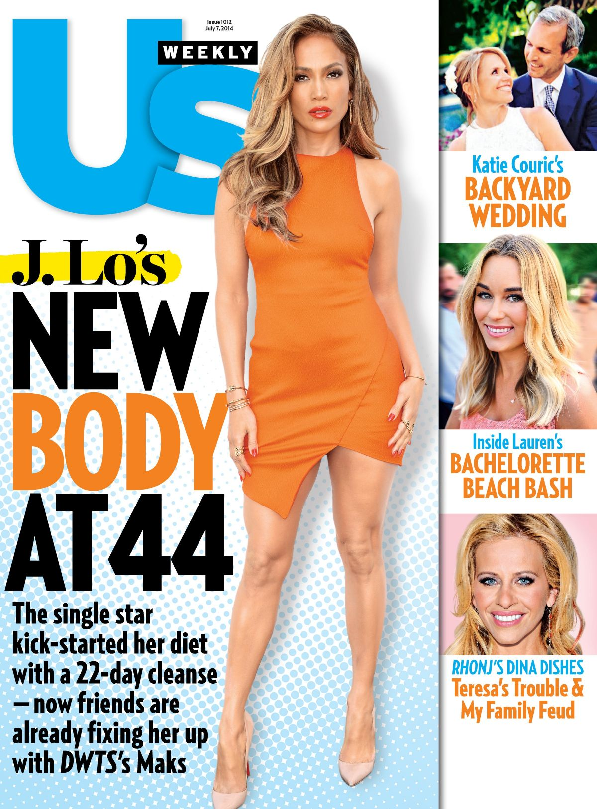 JENNIFER LOPEZ on the Cover of US Weekly Magazine, July 7th 2014 Issue