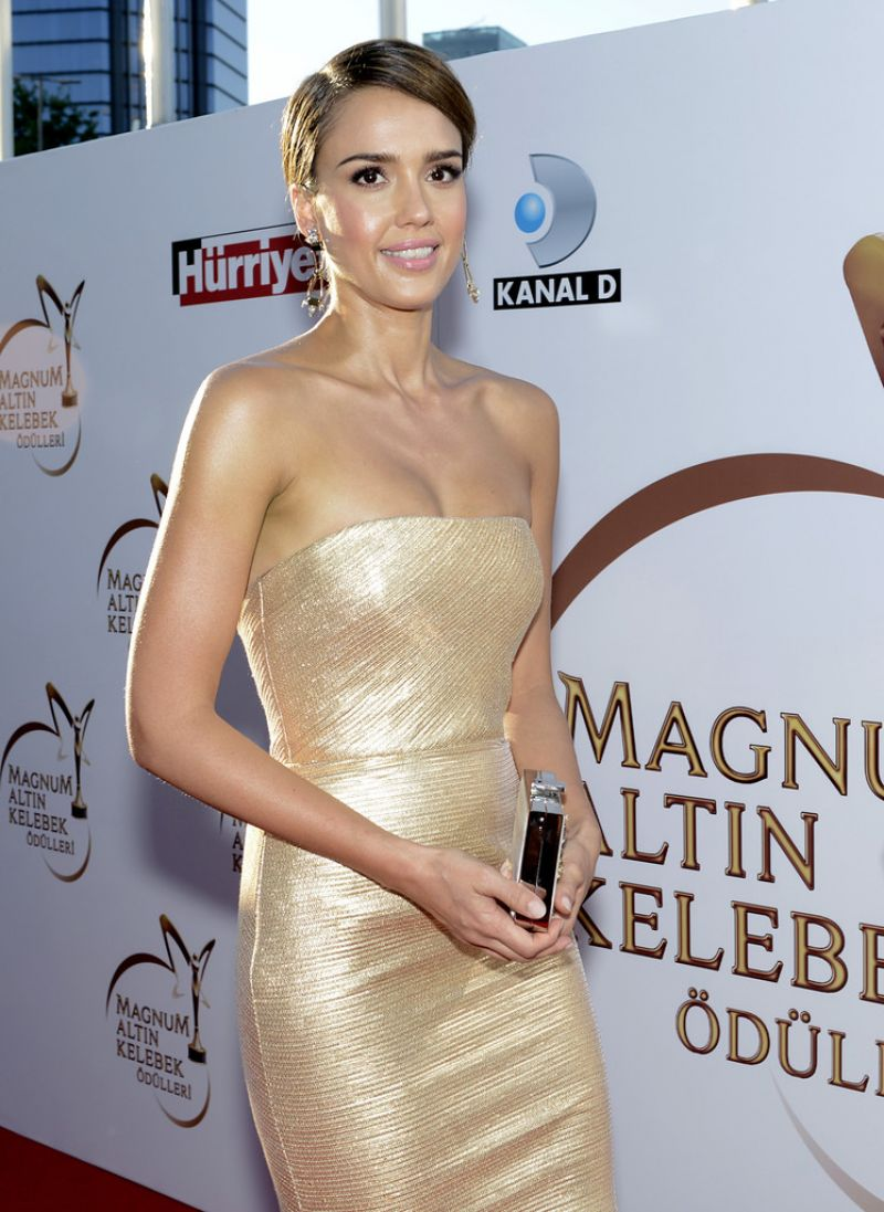 JESSICA ALBA at Magnum Golden Butterfly Awards in Istanbul