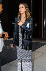 JESSICA ALBA Leaves Trump Soho Hotel in New York