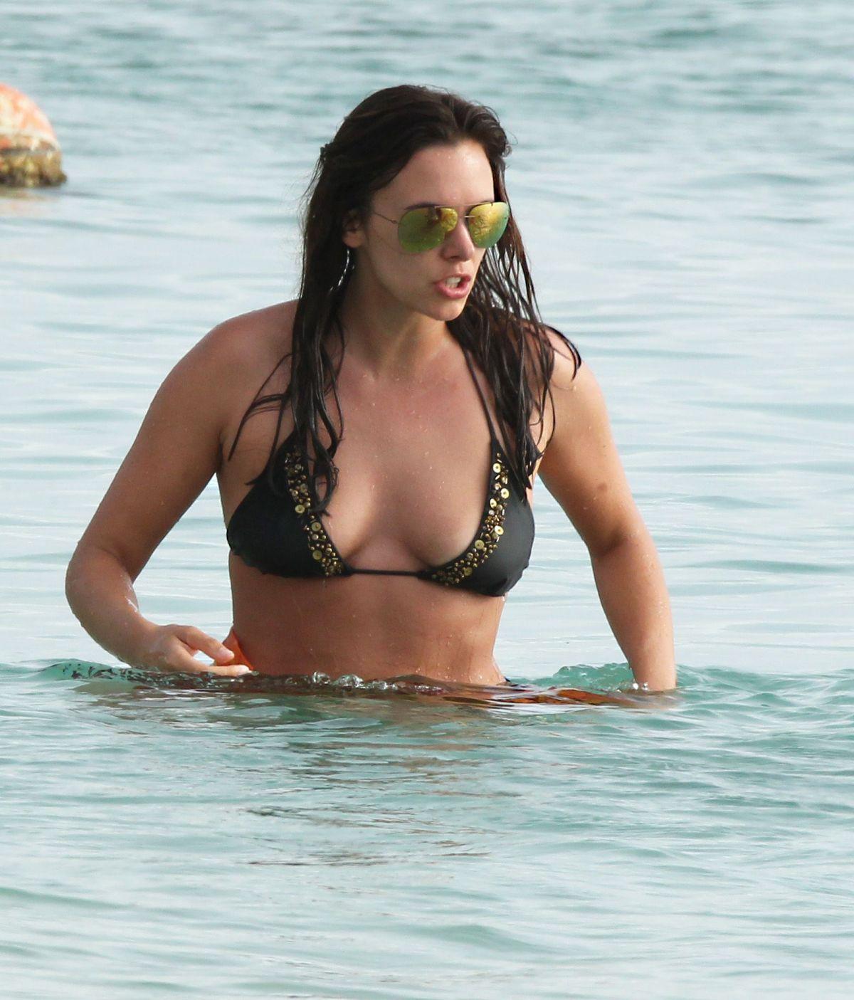 JODI ALBERT in Bikini at a Beach in Barbados