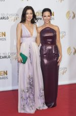 JULIE BENZ and JAIME MURRAY at 2014 Monte Carlo TV Festival Closing Ceremony