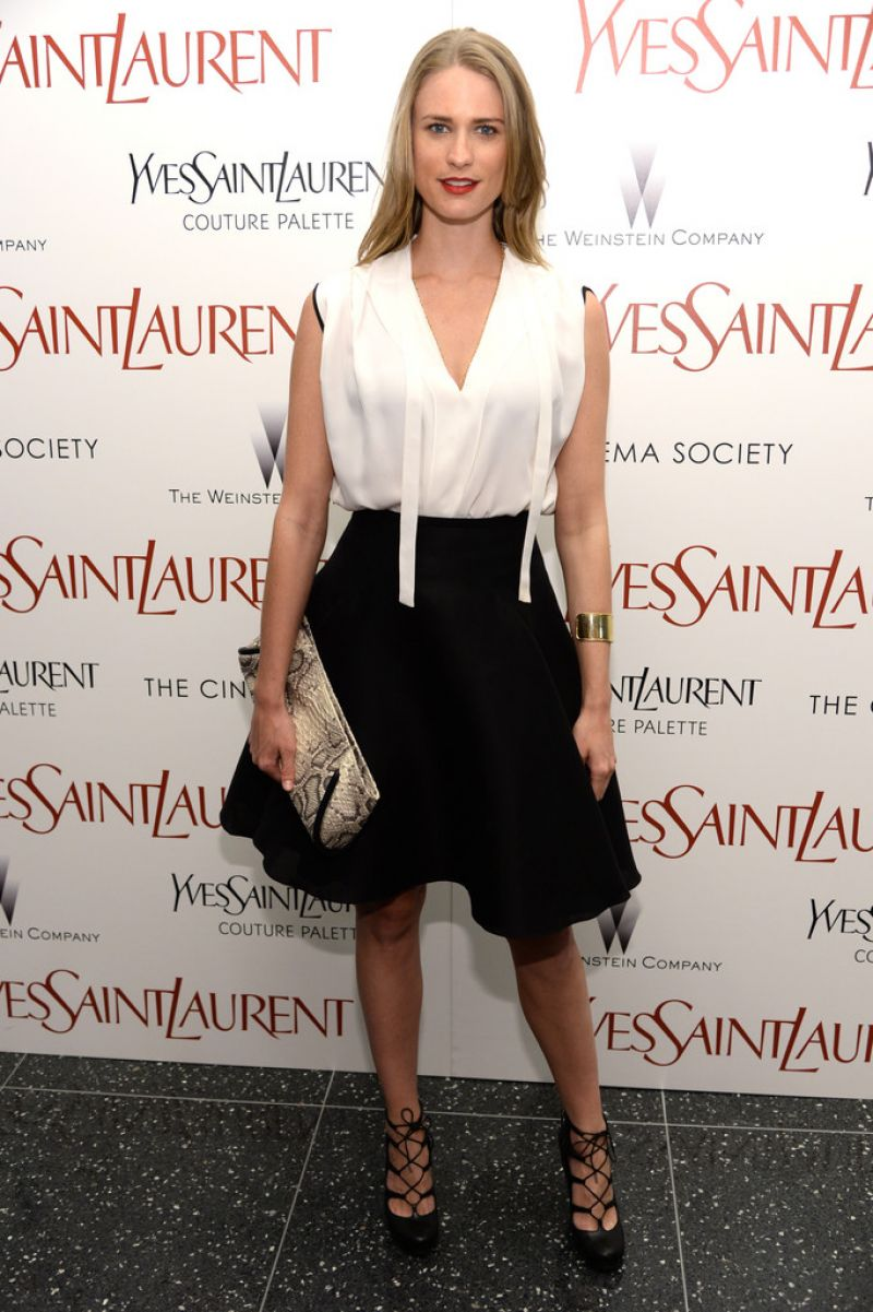 JULIE HENDERSON at Yves Saint Laurent Premiere in new York