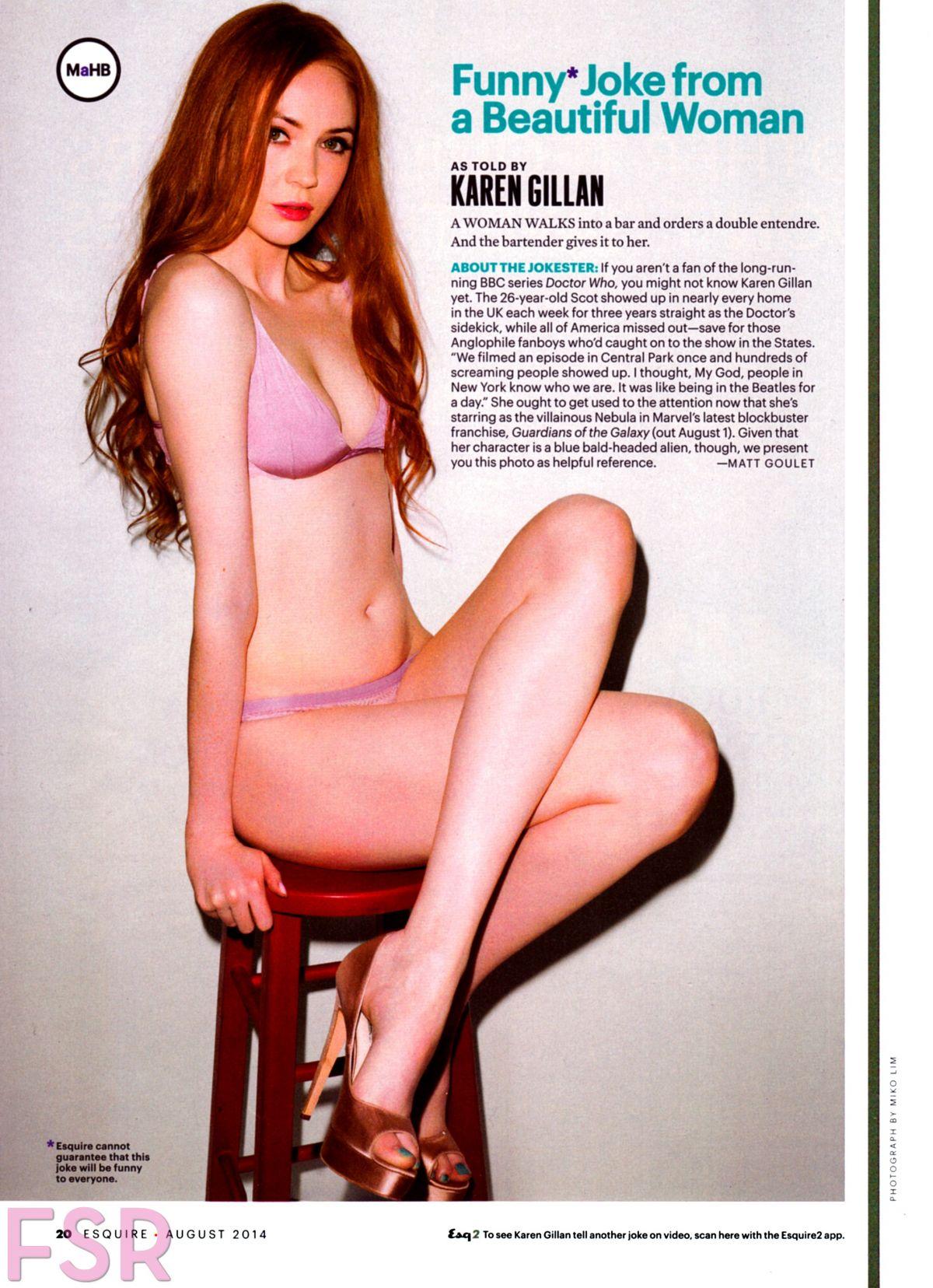 KAREN GILLAN in Esquire Magazine, August 2014 Issue