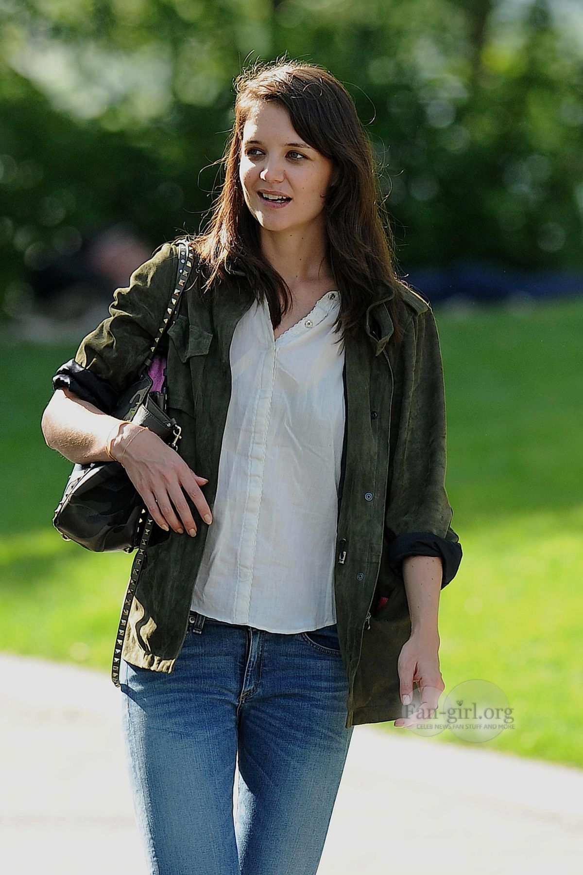 KATIE HOLMES at a Park in New York