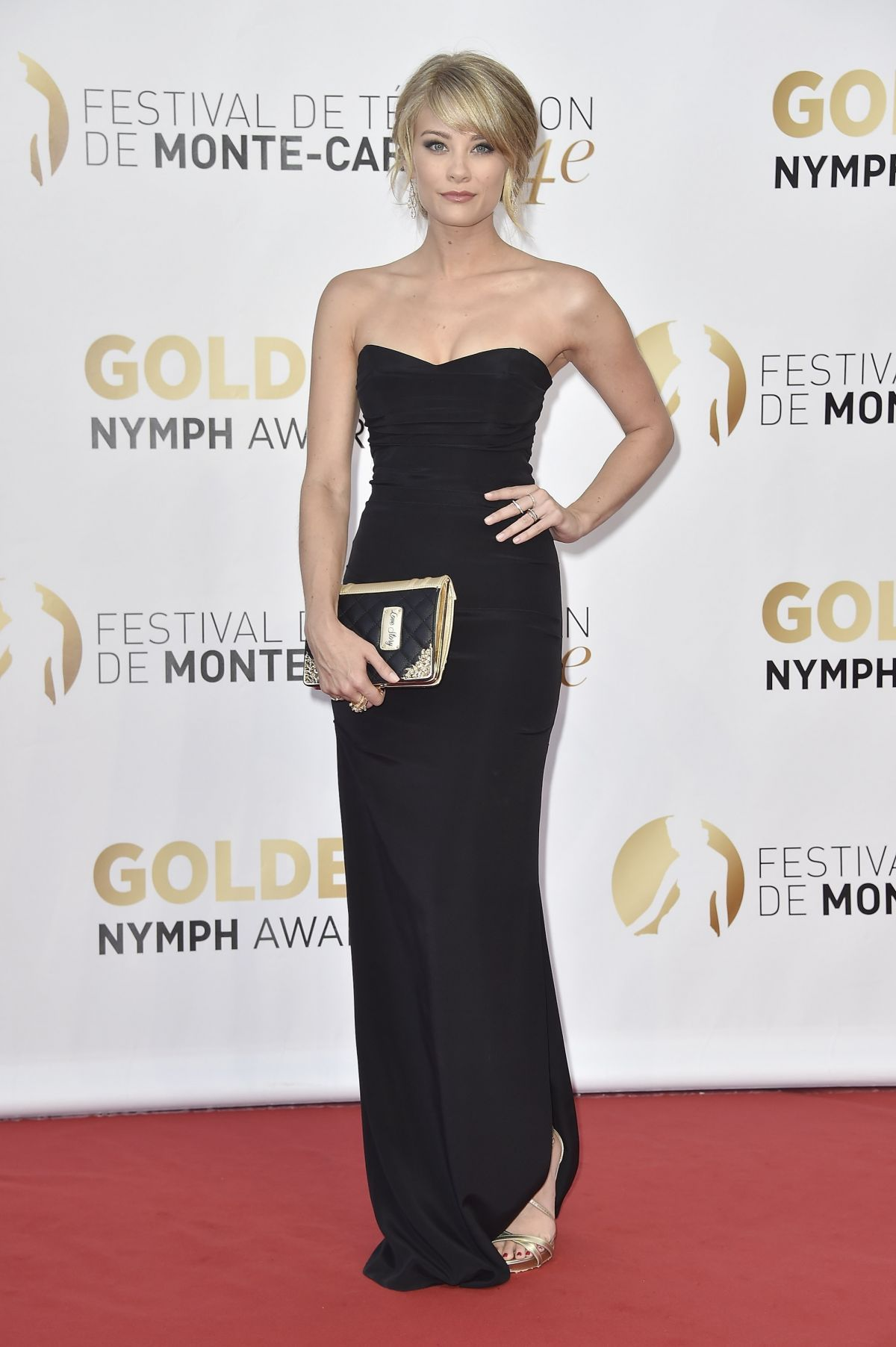 KIM MATULA at 2014 Monte Carlo TV Festival Closing Ceremony