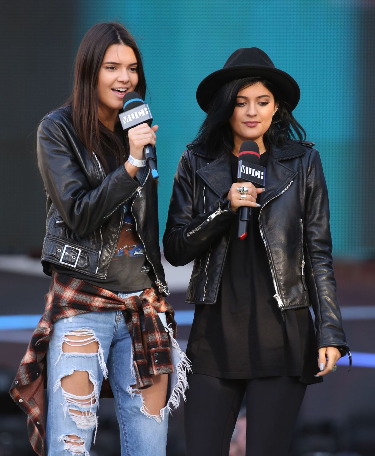 KYLIE and KENDALL JENNER at 2014 Muchmusic Video Awards Rehearsals in Toronto