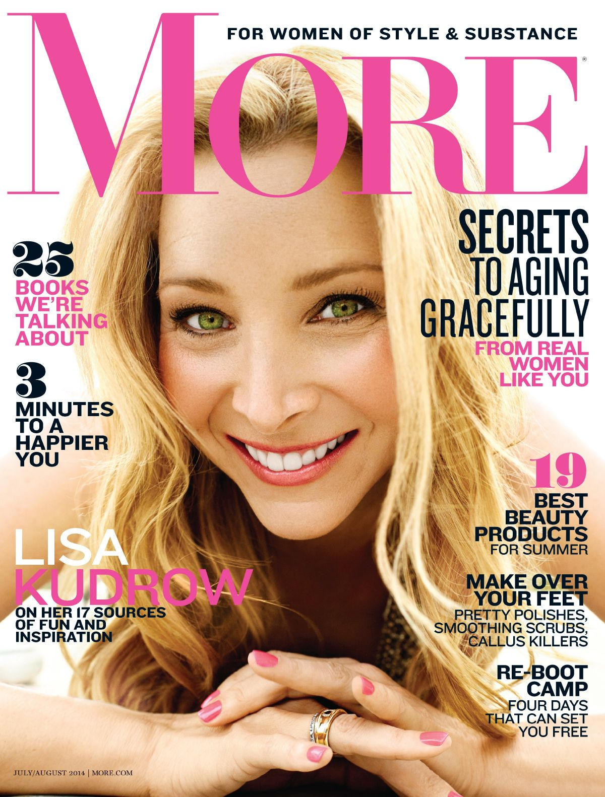 LISA KUDROW In More Magazine, July/August 2014 Issue