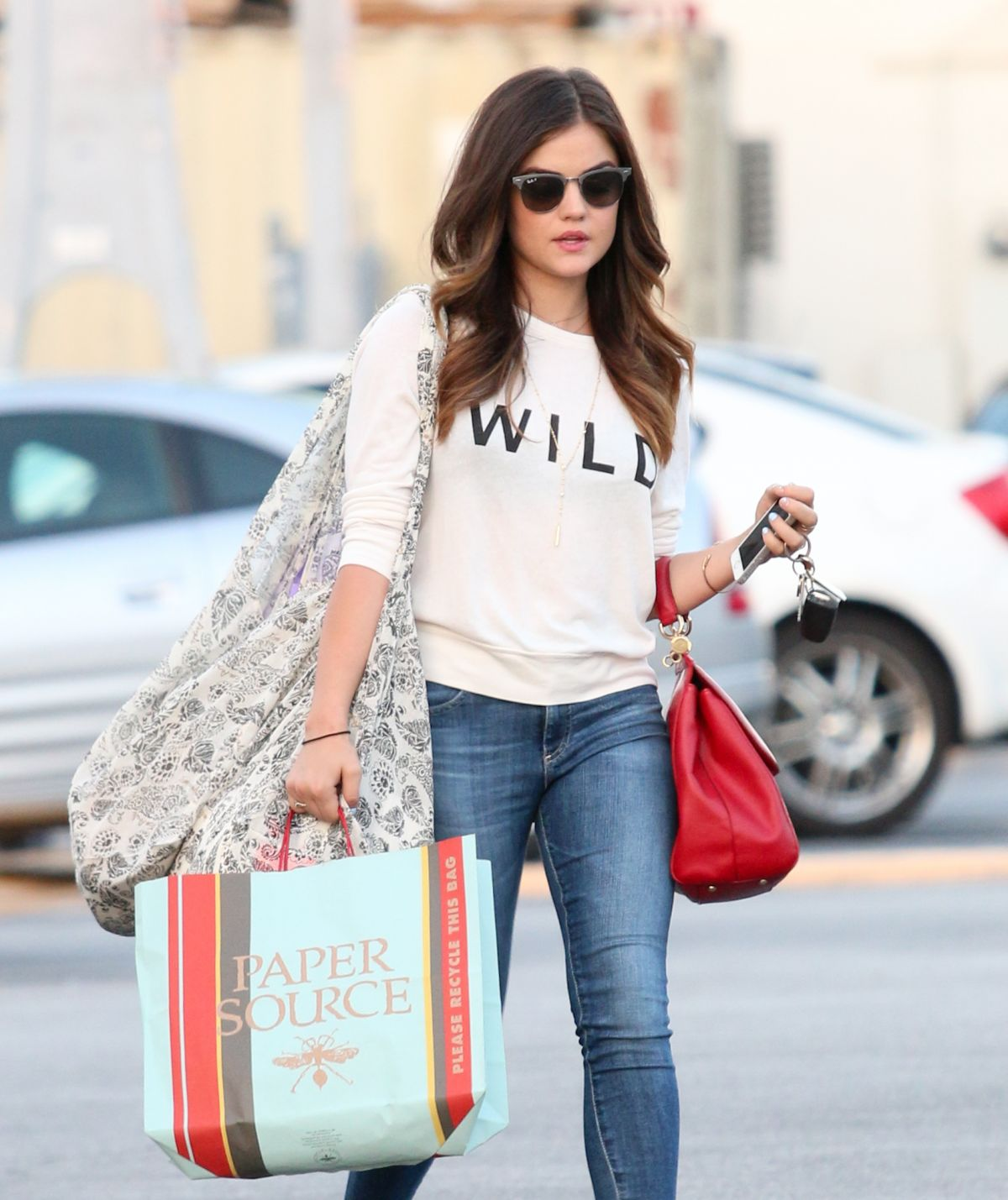 LUCY HALE in Jeans Out and About in Studio City - HawtCelebs
