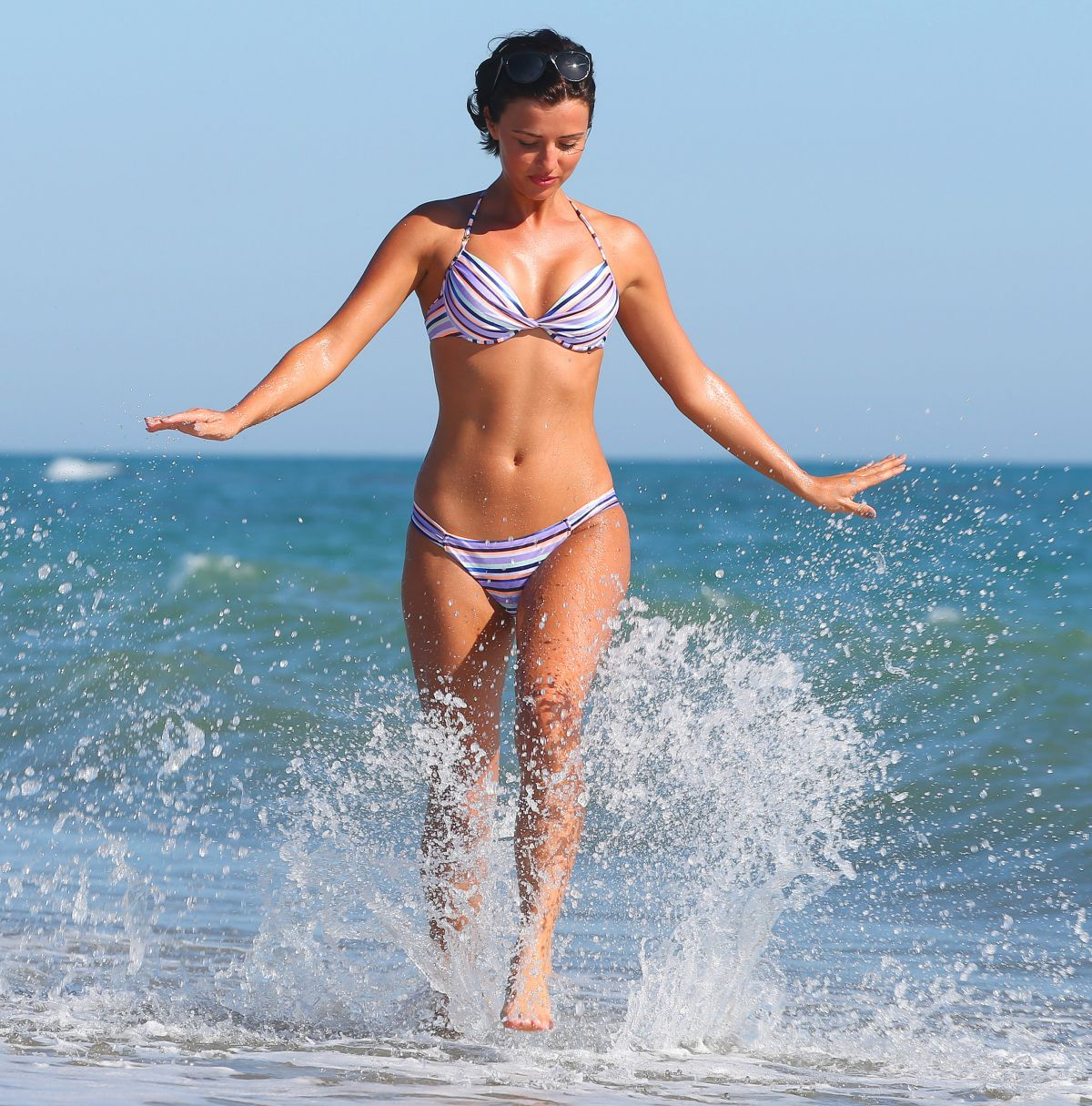Lucy Mecklenburgh In Bikini At The Beach In Italy Hawtcelebs