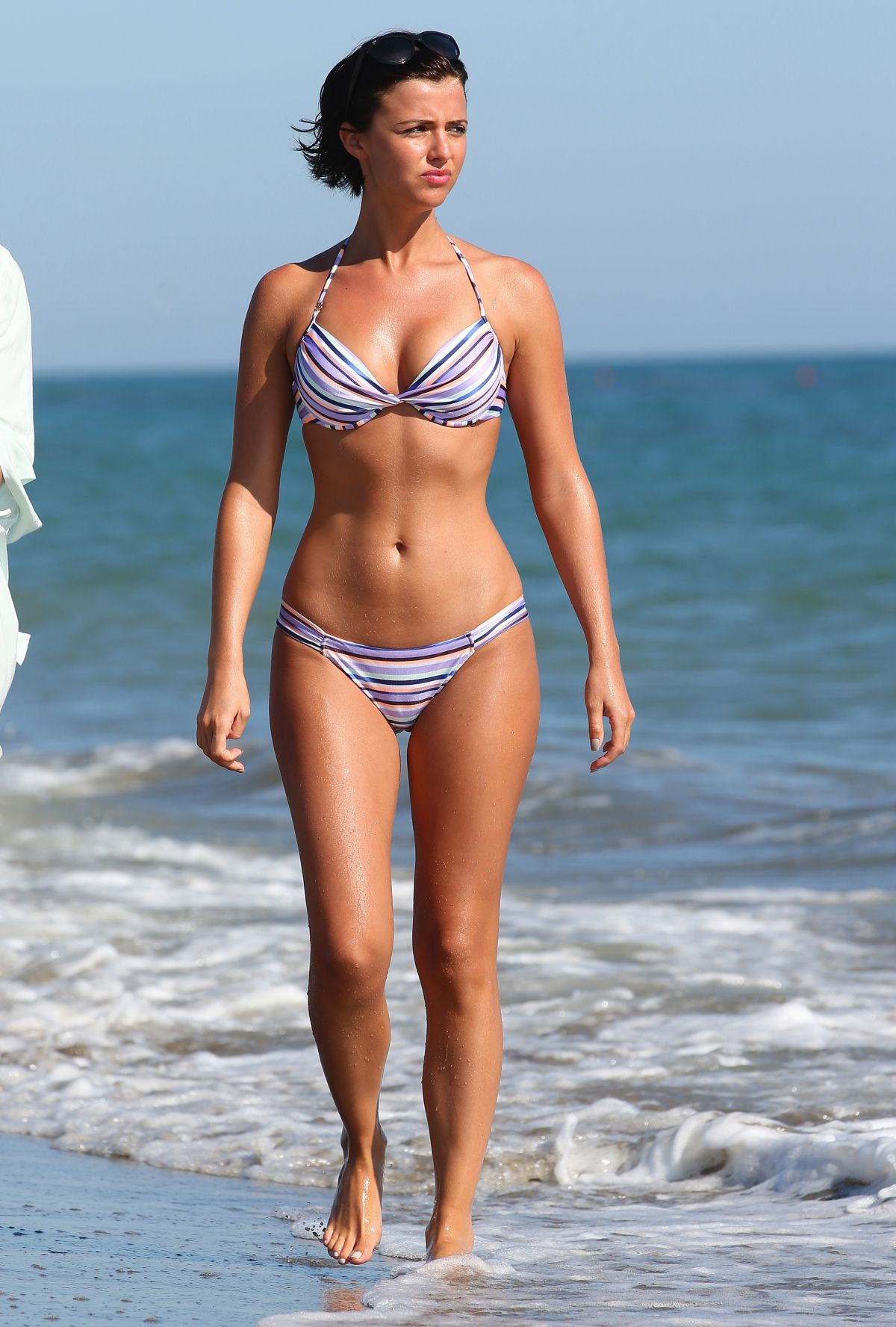 LUCY MECKLENBURGH in Bikini at the Beach in Italy