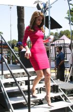 MARIA MENOUNOS on the Set of Extra in Universal City 1206