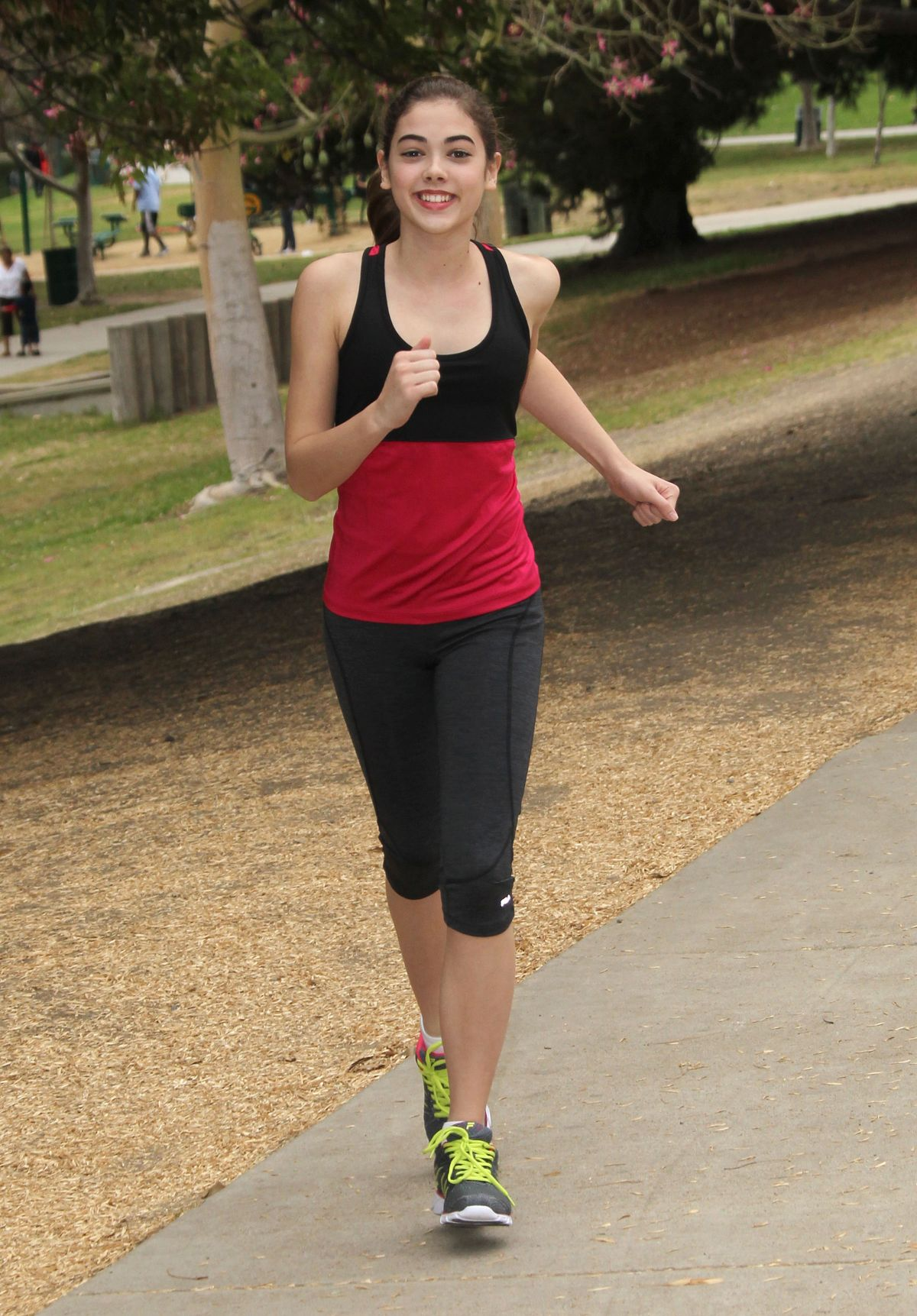 MCKALEY MILLER Out Exercising at a Park in Los Angeles