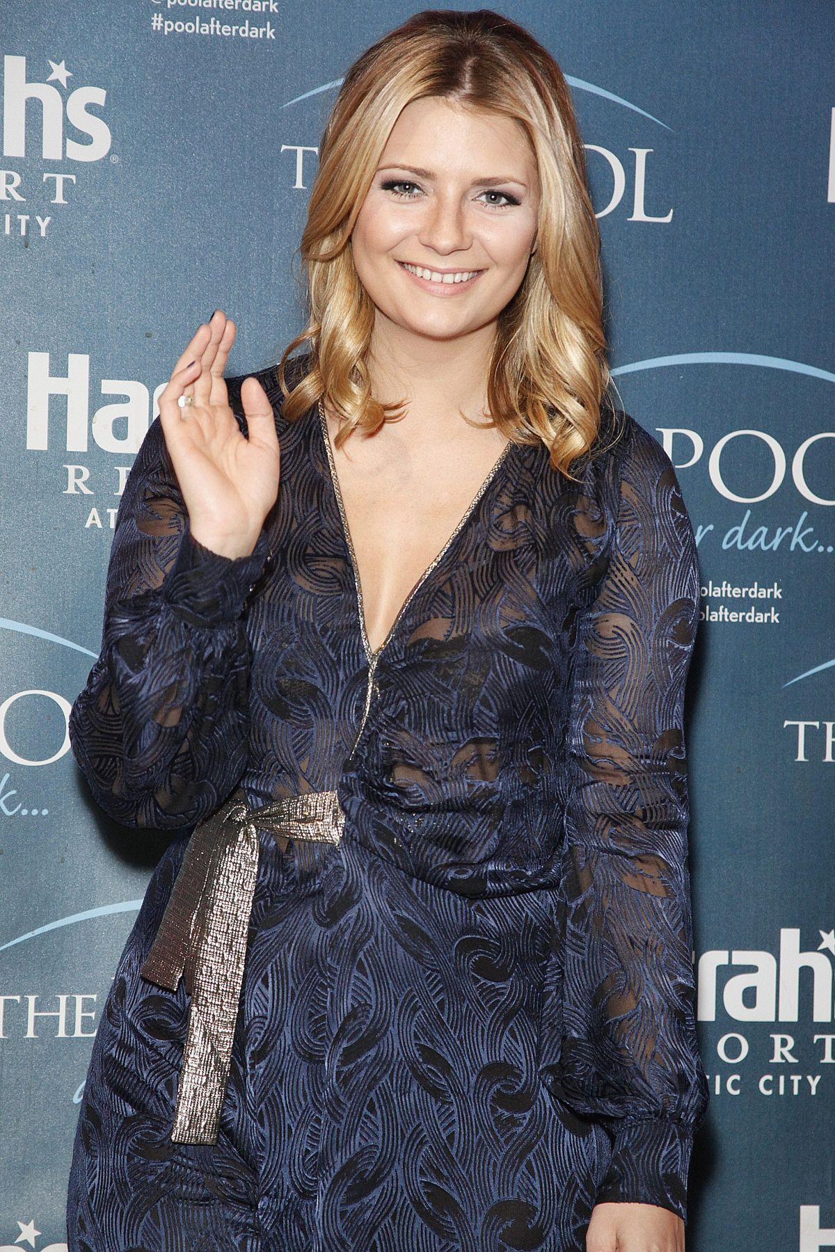MISCHA BARTON Hosts Pool After Dark at Harrah's Resort in Atlantic City