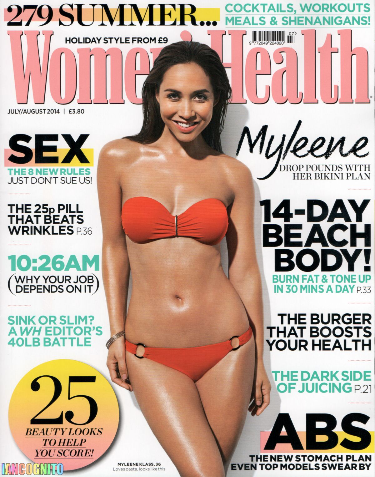 MYLEENE KLASS in Women's Health Magazine, July/August 2014 Issue