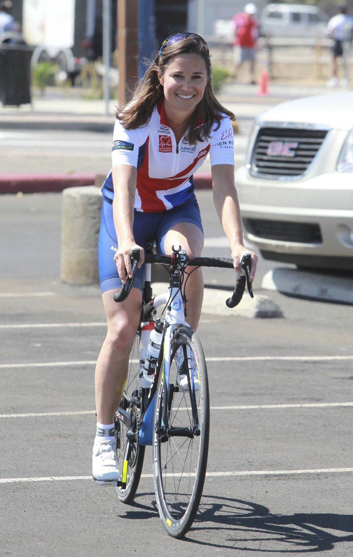 PIPPA MIDDLETON at Race Across America in San Diego