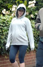 Pregnant SCARLETT JOHANSSON Out and About in London