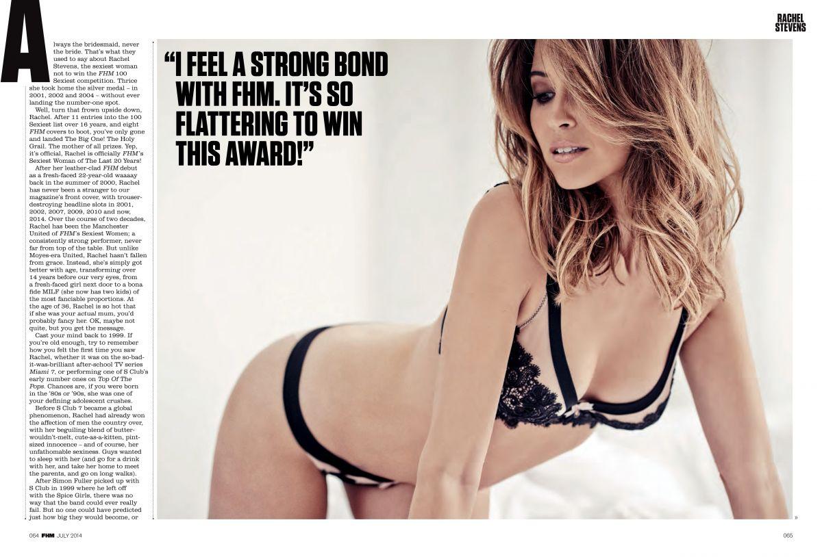 RACHEL STEVENS in FHM Magazine, July 2014 Issue