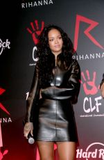 RIHANNA at Charity T-shirt Release Event with Hard Rock Cafe in Paris