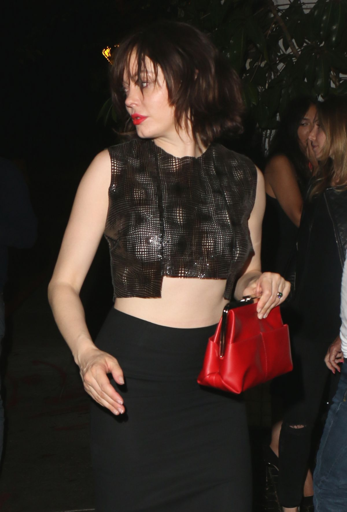 ROSE MCGOWAN at Chateau Marmont in West Hollywood