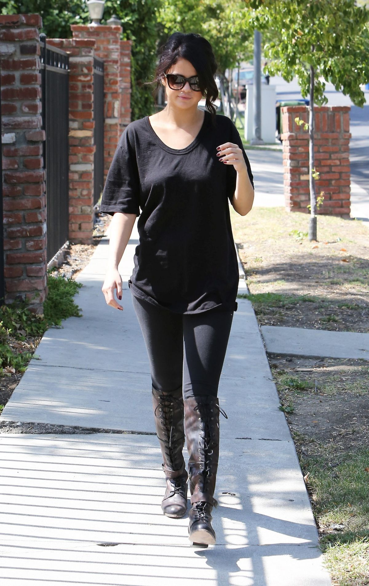SELENA GOMEZ Out and About in Los Angeles 1206