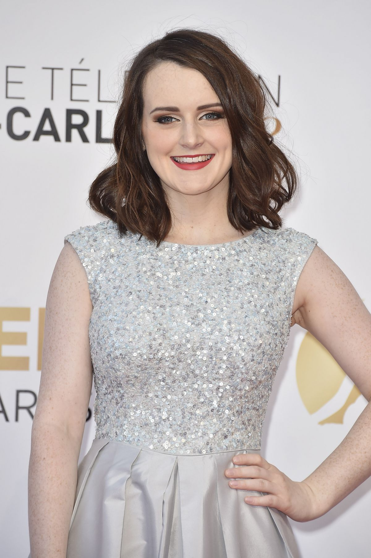 SOPHIE MCSHERA at 2014 Monte Carlo TV Festival Closing Ceremony