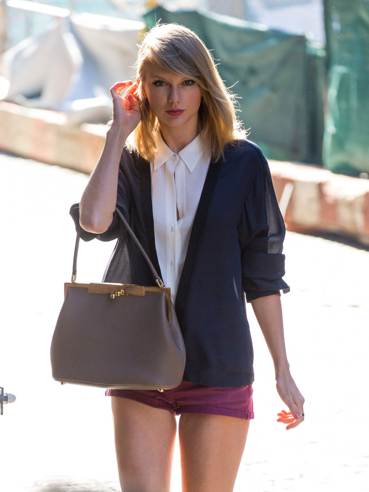 TAYLOR SWIFT in Short Shorts Out in New York