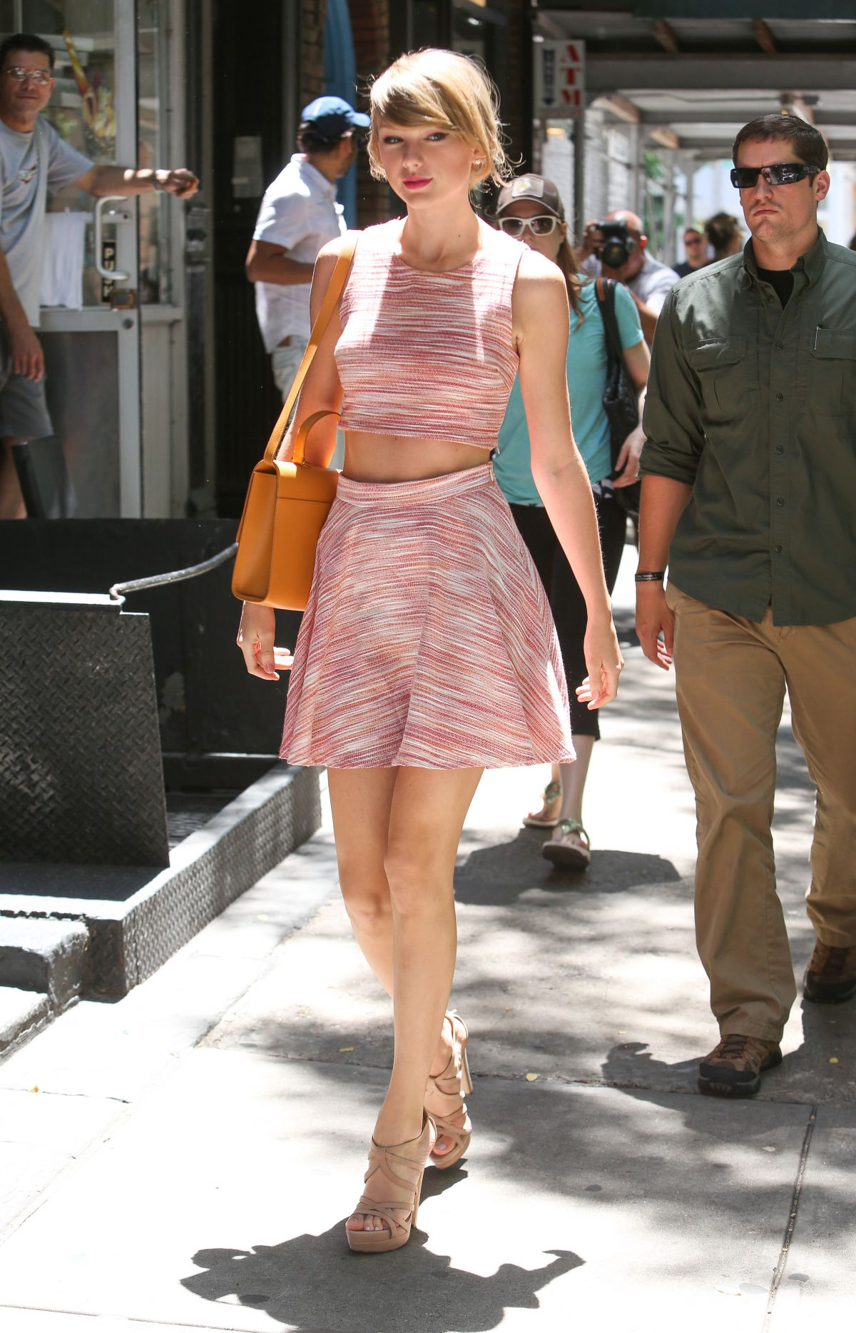 taylor swift in summer dress out and about in new york