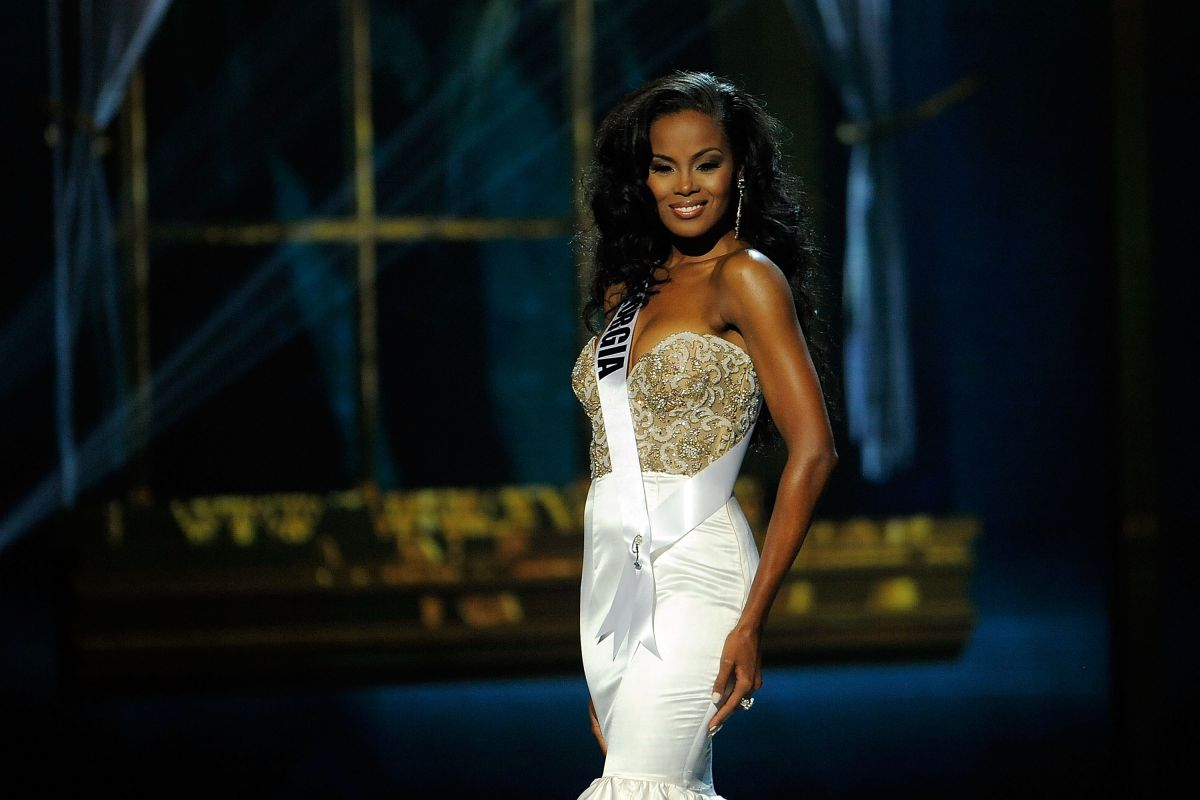 TIANA GRIGGS at Miss USA 2014 Preliminary Competition