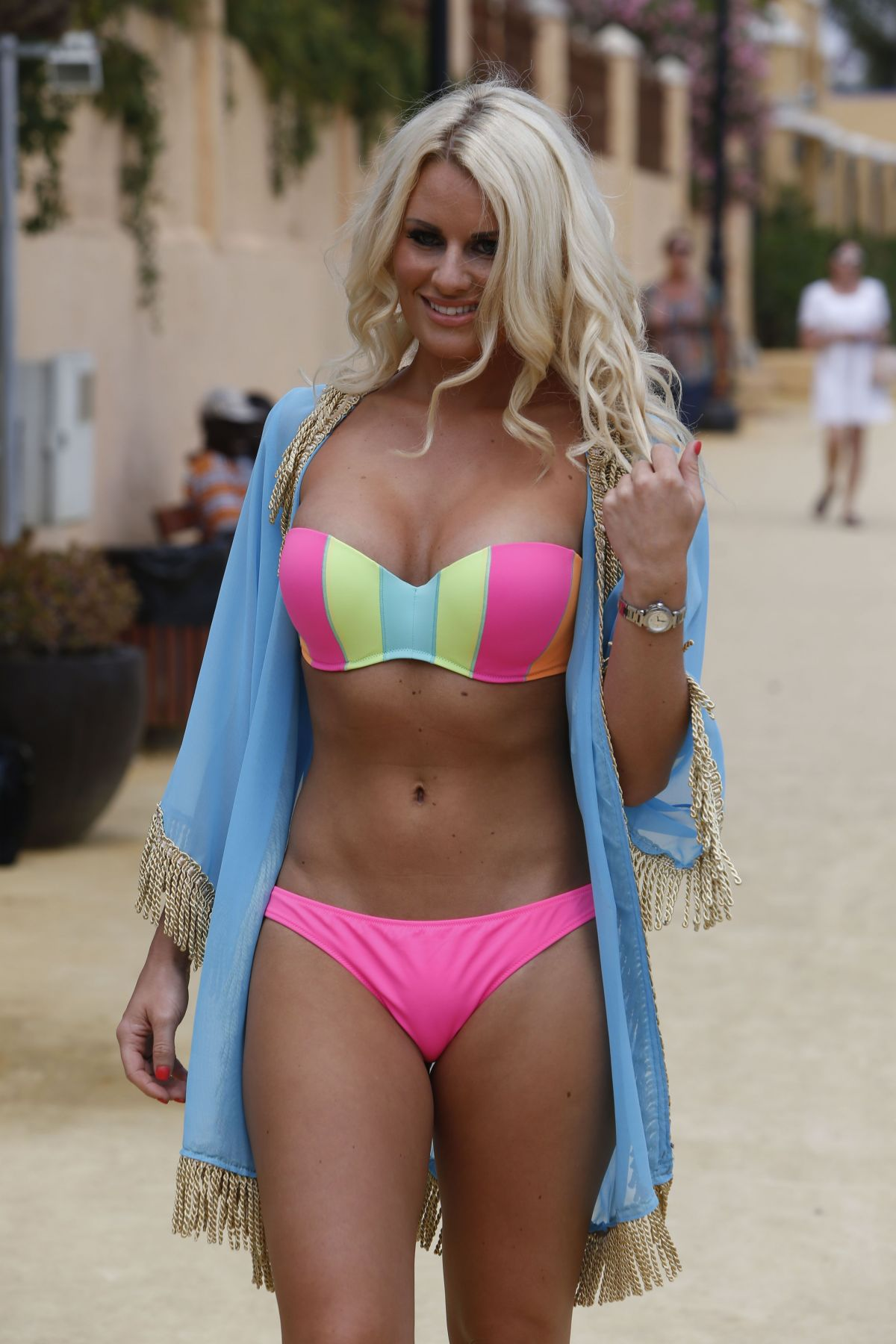 TOWIE GIRLS in Bikinis at a Beach in Marbella