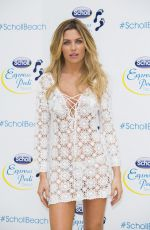ABIGAIL ABBEY CLANCY at Scholl Pop Up Pedicure Beach Launch in London