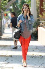 ALESSANDRA AMBROSIO Heading to Pilates Class in Santa Monica