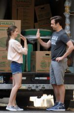 ALISON BRIE on the Set of Seeing Other People in New York